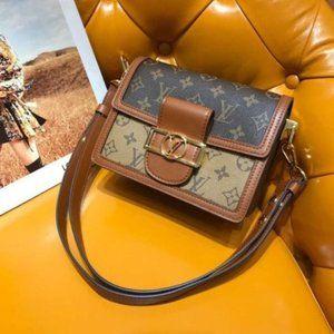 Louis Vuitton LV Daphne chain canvas leather bag
